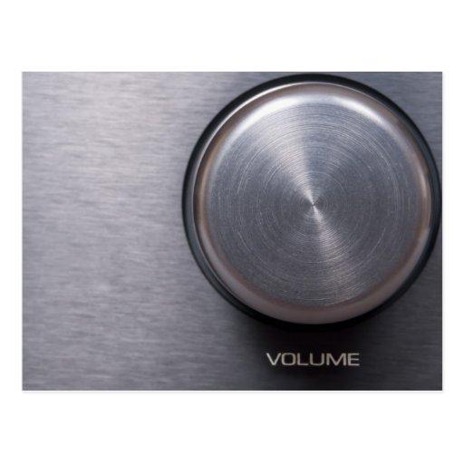 Metallic Volume Knob Postcard