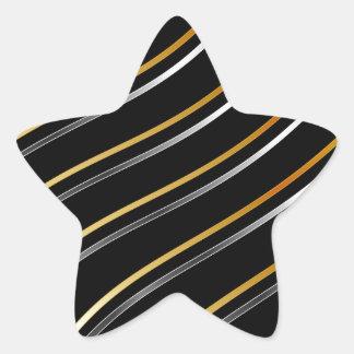 Metallic wave background star sticker