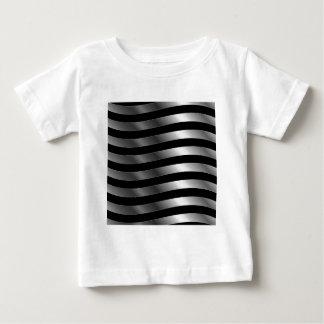 Metallic wave background tee shirt