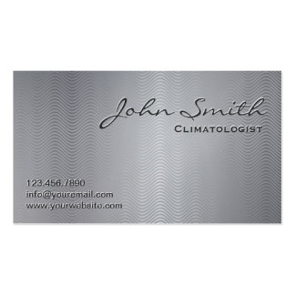 Metallic Wave Patterns Climatologist Business Card