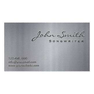 Metallic Wave Patterns Songwriter Business Card
