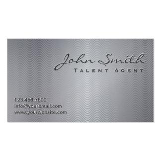 Metallic Wave Patterns Talent Agent Business Card
