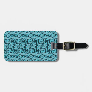 Metallic Waves 2Tone Teal Drk Bag Tag