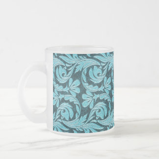 Metallic Waves 2Tone Teal Drk FROSTED MUG
