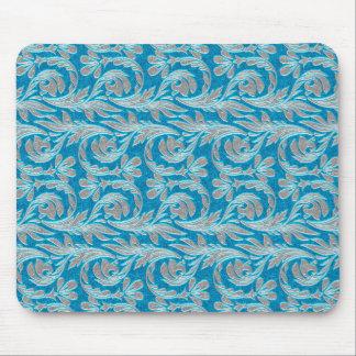 Metallic Waves, Lt Blue-White MOUSEPAD