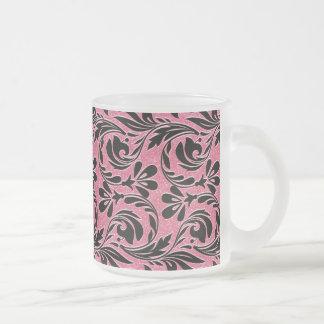 Metallic Waves, Lt Pink-Black-Frosted Mug