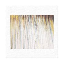 Metallic Waves Pattern Canvas Print A
