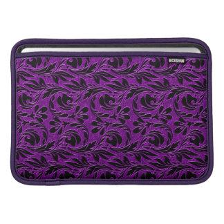 Metallic Waves,Purple-Black-Macbook Air Sleeve 11i MacBook Air Sleeves
