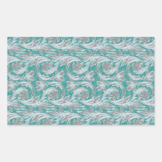Metallic Waves, Seafoam-White Rec.Sticker