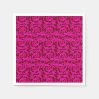 Metallic Waves-Two Toned Pink-PAPER PARTY NAPKIN