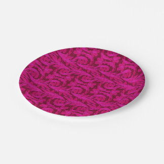 Metallic Waves-Two Toned Pink-PAPER PARTY PLATES