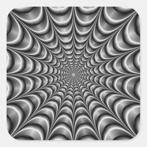 Metallic Web Square Sticker
