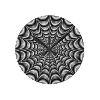 Metallic Web Wall Clock