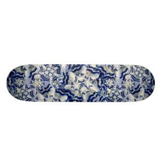 Metallic Winter Abstract Composition Skateboard