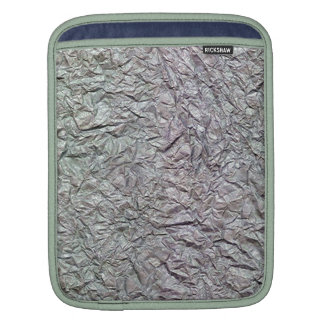 Metallic Wrinkled Paper Texture Sleeve For iPads