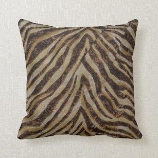 Brown Zebra Print Pillows Decorative Amp Throw Pillows
