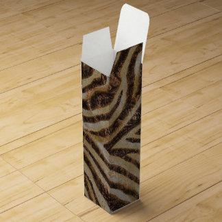 Metallic Zebra Wine Gift Box