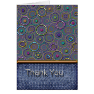 Metallica Circles and Tread Thank You Cards