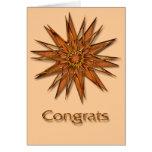 Metallica Shiny and Satin Starburst Congrats Card