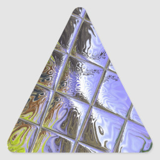 Metalliic Purple Triangle Sticker