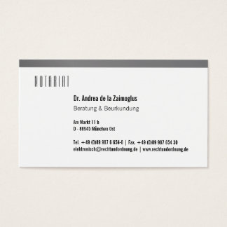 Metallisch wirkend business card