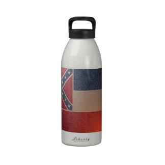 Metallized flag of the Mississippi Drinking Bottle