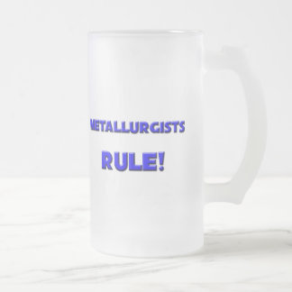 Metallurgists Rule! Frosted Glass Beer Mug