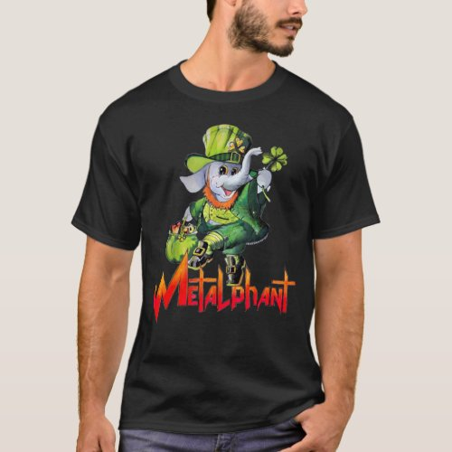 Metalphant St Phantrick Adult dark colors T_Shirt