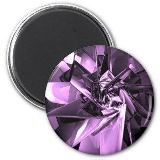 Metals of Purple 2 Inch Round Magnet