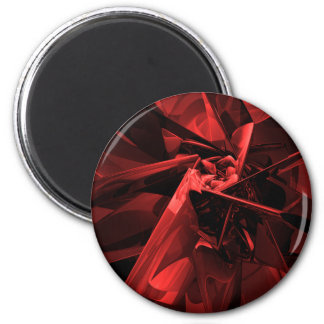 Metals of Red 2 Inch Round Magnet