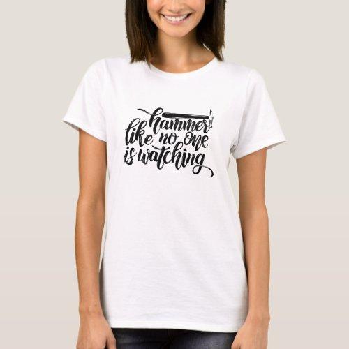 Metalsmith hammer funny T-Shirt