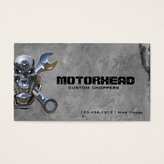 Metalwork Skull and Wrench Business Card