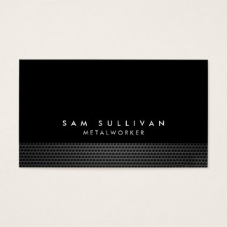 Metalworker Metal Grid Texture Trade Skill Business Card