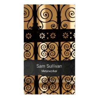 Metalworker Wrought Iron Gate Pattern BusinessCard Business Card Template