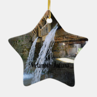 Metamora Indiana Ceramic Ornament