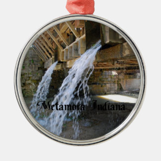 Metamora Indiana Metal Ornament