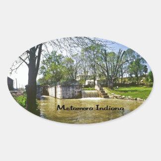 Metamora Indiana Pegatinas De Ovaladas