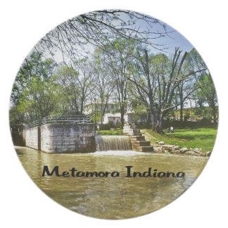 Metamora Indiana Dinner Plate