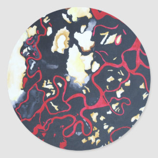 metamorphic particles III Classic Round Sticker