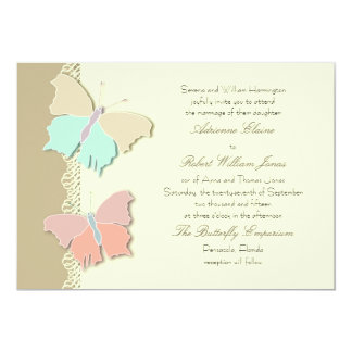 Metamorphosis Artistic Butterfly Wedding  Design Card