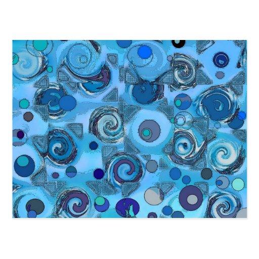 metamorphosis blue - Abstract Postcard