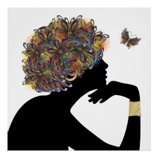 METAMORPHOSIS Butterfly Lady Poster