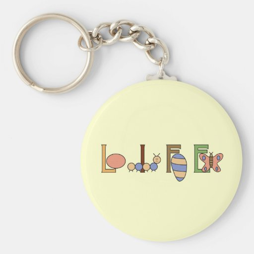 Metamorphosis Life of a Butterfly Basic Round Button Keychain