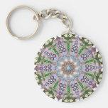 Metamorphosis Mandala Basic Round Button Keychain