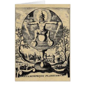 Metamorphosis of Metals in alchemy Greeting Cards