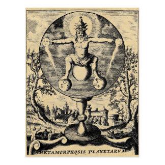 Metamorphosis of Metals in alchemy Postcard
