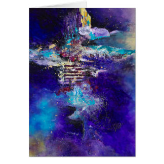 Metamorphosis Painting Abstract Art Work on Canvas Card
