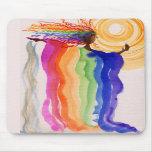 Metamorphosis Rainbow Woman Watercolor Painting Mousepads
