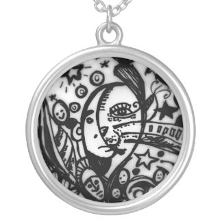 Metamorphosis Silver Plated Necklace