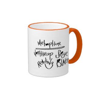 Metaphor: Northrop Frye Reading Blake Ringer Mug